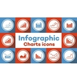 charts and graphs icons vector image vector image