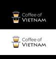 coffee vietnam logo with vietnamese vector image vector image