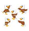 collection of the dashing eagle vector image vector image
