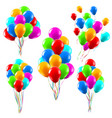 colourful realistic balloons glossy green red vector image