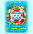 cool pool party poster template vector image vector image