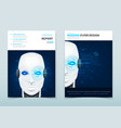 corporate business flyer design with robot vector image