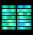 emerald green gradient foil texture vector image