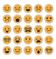 Emoticons Set of characters in different emotions vector image vector image