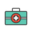 first aid or medical box healthcare related icon vector image vector image