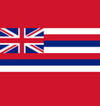 flag of the usa state of hawaii vector image vector image