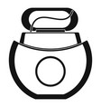 floss open box icon simple style vector image vector image
