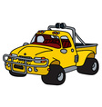Funny yellow pick-up vector image