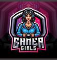 gamer girls esport mascot logo