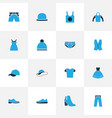 garment colorful icons set collection of vector image