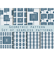 Geometric seamless pattern set vector image