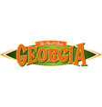 georgia the peach state vector image vector image