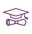 graduate icon isolated on white background from vector image vector image