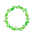 green leaf wreath vector image