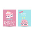 greeting card happy birthday two variants vector image vector image