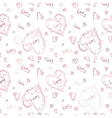 Hand-painted heart pattern vector image vector image