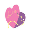 happy valentine day icon with gift card vector image vector image