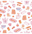 home baking pattern vector image vector image
