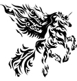 horse tattoo vector image vector image