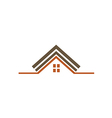 house construction realty roof logo vector image vector image
