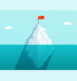 iceberg in ocean floating in sea waves vector image vector image