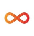 Limitless symbol Orange applique vector image vector image
