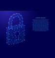 lock closed symbol of cyber security concept from vector image vector image