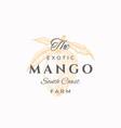 mango farms abstract sign symbol or logo vector image