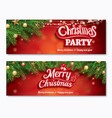 merry christmas invitation party poster banner vector image