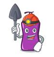 miner shampo mascot cartoon style vector image