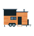 modern mobile home for summer trip family travel vector image vector image