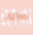 new york sign vector image