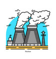 nuclear power plantpowerhouse or generating vector image vector image