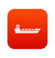 oil tanker ship icon digital red vector image vector image