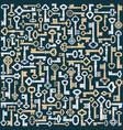 old keys background vector image vector image