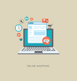 online shopping flat illiustration vector image
