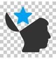 Open Head Star Icon vector image vector image
