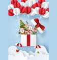 origami paper art santa claus and cute vector image