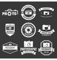 Photography Badges and Labels in Vintage Style vector image vector image