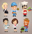 professions set1 3 vector image vector image