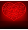 Red design heart vector image vector image