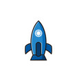 rocket creative logo design inspiration vector image