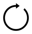 rotate arrow icon vector image vector image