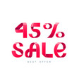 sale 45 percent off vector image