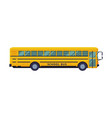 school bus side view back to concept vector image vector image