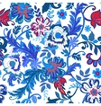 Seamless floral background Colorful red and blue vector image vector image