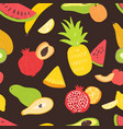 seamless pattern with sweet tasty organic ripe vector image vector image
