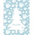 shiny diamonds Christmas tree silhouette pattern vector image