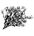 Shrub Silhouette vector image vector image