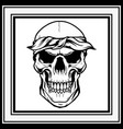 skull retrovintagedetail hand drawing vector image vector image